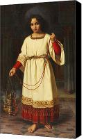 1842 Canvas Prints - An Altar Boy Canvas Print by Abraham Solomon