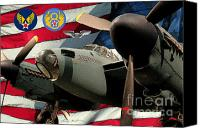 Dh Canvas Prints - An American  DH.98 Mosquito USAAF Canvas Print by Tommy Anderson