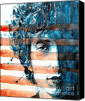 Bob Dylan Print Canvas Prints - An American icon Canvas Print by Paul Lovering