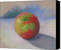 Apples Pastels Canvas Prints - An Apple A Day Canvas Print by Shirley Galbrecht