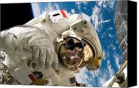 Demonstration Photo Canvas Prints - An Astronaut Mission Specialist Canvas Print by Stocktrek Images