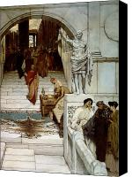 Alma-tadema; Sir Lawrence (1836-1912) Canvas Prints - An Audience at Agrippas Canvas Print by Sir Lawrence Alma-Tadema