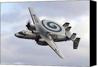 Aircraft Photo Canvas Prints - An E-2c Hawkeye Performs A Fly-by Canvas Print by Stocktrek Images