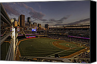 Target Field Canvas Prints - An Evening at Target Field Canvas Print by Tom Gort