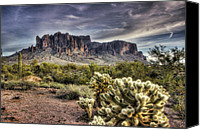The Supes Canvas Prints - An Evening at the Superstitions Canvas Print by Saija  Lehtonen