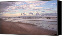Topsail Island Canvas Prints - An Evening with Topsail Island Canvas Print by East Coast Barrier Islands Betsy A Cutler