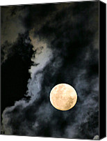 Evil Canvas Prints - An Evil Face in the Clouds Canvas Print by Kristin Elmquist
