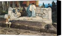 Alma-tadema; Sir Lawrence (1836-1912) Canvas Prints - An Exedra Canvas Print by Sir Lawrence Alma-Tadema