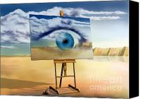 Dali Canvas Prints - An eye with a view Canvas Print by Paul Fleet
