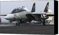 Operation Iraqi Freedom Canvas Prints - An F-14d Tomcat Launches Off The Flight Canvas Print by Gert Kromhout