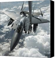 10:7 Canvas Prints - An F-15 E Strike Eagle Receives Fuel Canvas Print by Stocktrek Images