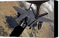 Afghanistan Canvas Prints - An F-15 Strike Eagle Prepares Canvas Print by Stocktrek Images