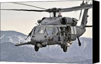 Afghanistan Canvas Prints - An Hh-60 Pave Hawk Helicopter In Flight Canvas Print by Stocktrek Images