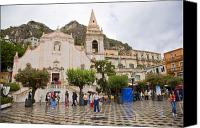 Taormina Canvas Prints - An iffy day in Taormina Canvas Print by Madeline Ellis