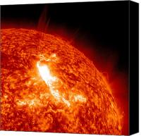Chromosphere Canvas Prints - An M8.7 Class Flare Erupts On The Suns Canvas Print by Stocktrek Images