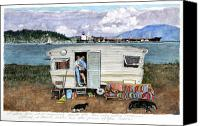 Puget Sound Canvas Prints - Anacortes Fuel Canvas Print by Perry Woodfin