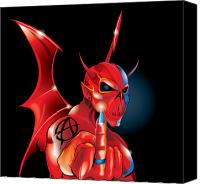 Devil Mixed Media Canvas Prints - Anarchy Canvas Print by Brian Gibbs