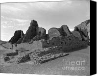 Indian Ruins Canvas Prints - Anasazi Ruins In Chaco Canyon Canvas Print by Arni Katz