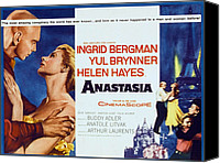 1956 Movies Canvas Prints - Anastasia, Yul Brynner, Ingrid Bergman Canvas Print by Everett