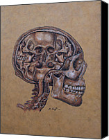 Joe Dragt Canvas Prints - Anatomy of a Schizophrenic Canvas Print by Joe Dragt