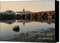 Mud Canvas Prints - Ancient Bridge Canvas Print by Carlos Caetano