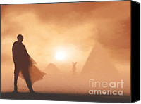 Ancient Digital Art Canvas Prints - Ancient desert Canvas Print by Pixel  Chimp