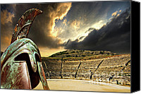 Battle Canvas Prints - Ancient Greece Canvas Print by Meirion Matthias
