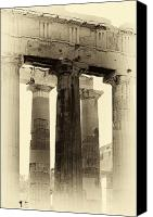 Acropolis Canvas Prints - Ancient Greek Columns Canvas Print by John Rizzuto