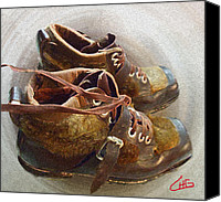 Colette Canvas Prints - Ancient old Ski SHOES  Canvas Print by Colette Hera  Guggenheim