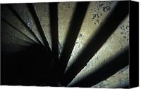 Staircase Canvas Prints - Ancient Stone Spiral Staircase Canvas Print by Will & Deni McIntyre