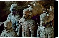 Image Setting Photo Canvas Prints - Ancient Terracotta Soldiers Lead Horses Canvas Print by O. Louis Mazzatenta