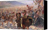 Mythological Canvas Prints - Ancient Warriors Canvas Print by Georges Marie Rochegrosse