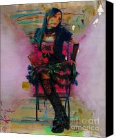 Youth Mixed Media Canvas Prints - And All That Sass Canvas Print by Tammera Malicki-Wong