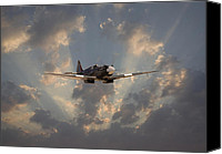 Raf Canvas Prints - And Comes Safe Home Canvas Print by Pat Speirs
