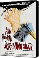 Horror Fantasy Movies Photo Canvas Prints - And Now The Screaming Starts, Pictured Canvas Print by Everett