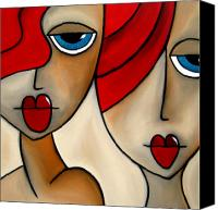 Picasso Painting Canvas Prints - And She Was Canvas Print by Tom Fedro - Fidostudio