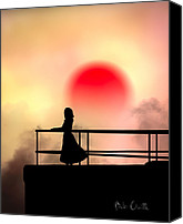 Silhouette Canvas Prints - And The Sun Also Rises Canvas Print by Bob Orsillo