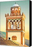 Moroccan Canvas Prints - Andalucian minaret Canvas Print by Tom Gowanlock