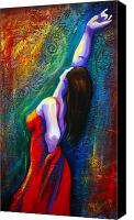 Dancer Canvas Prints - Andalulcia Canvas Print by Claudia Fuenzalida Johns