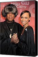 Half-length Canvas Prints - Andre Leon Talley, Tyra Banks Canvas Print by Everett
