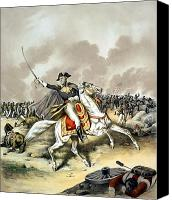 Founding Fathers Painting Canvas Prints - Andrew Jackson At The Battle Of New Orleans Canvas Print by War Is Hell Store