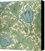Repeat Pattern Canvas Prints - Anemone design Canvas Print by William Morris