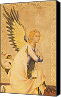 Gold Angel Card Canvas Prints - Angel Gabriel  Canvas Print by Simone Martini