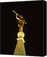 Angel Moroni Canvas Prints - Angel Moroni Canvas Print by Troy Montemayor
