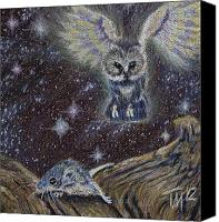 Mouse Pastels Canvas Prints - Angel of Death Canvas Print by Thomas Maynard