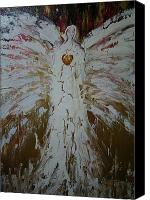 Magdalene Canvas Prints - Angel of divine Healing Canvas Print by Alma Yamazaki