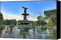Bethesda Fountain Canvas Prints - Angel of the Waters Fountain  Bethesda II Canvas Print by Lee Dos Santos
