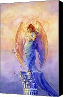 Mythological Canvas Prints - Angel of Truth and Illusion Canvas Print by Janet Chui
