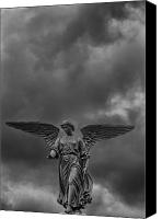 Bethesda Fountain Canvas Prints - Angel Statue Bethesda Fountain Central Park 2 Canvas Print by Robert Ullmann