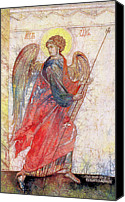 Byzantine Icon Canvas Prints - Angel Canvas Print by Tanya Ilyakhova